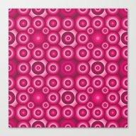 Pink Monochrome Geometri… Canvas Print