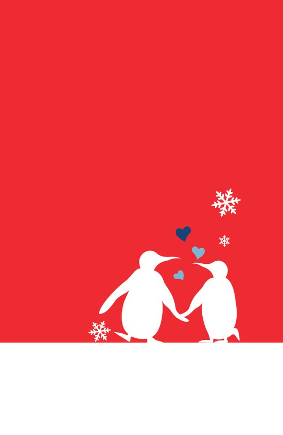 Penguin Couple Art Print