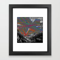 Sky and Mountains Framed Art Print