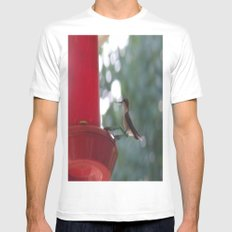 Hummingbird w/ bokeh Mens Fitted Tee SMALL White
