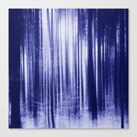 Indigo Woods Canvas Print