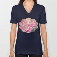 Pink Lacecap Hydrangea F… Unisex V-Neck