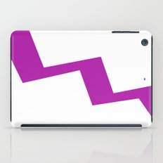 Purple line iPad Case