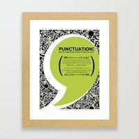 Punctuation [Appreciation]. Framed Art Print