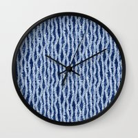 Shibori Eight Wall Clock