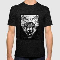 The Wolf Within Mens Fitted Tee Tri-Black SMALL
