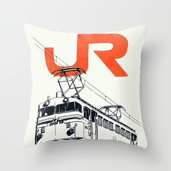 On Paper: JR EF65-100 Throw Pillow