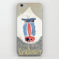 Baboon iPhone & iPod Skin