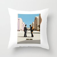 Wish you were flat Throw Pillow