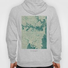 Sydney Map Blue Vintage Hoody