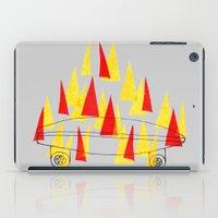 Flaming Skateboard iPad Case