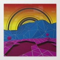 Digital Terrain Canvas Print