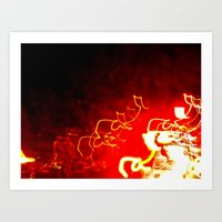 Art Print featuring Fire Light by morningowl