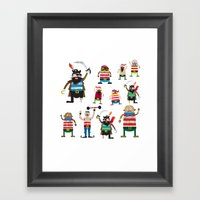Pirates Made Of Paper Framed Art Print