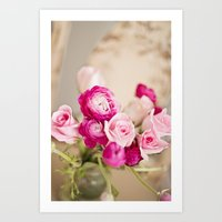 Bunches Of Pink Art Print