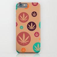 iPhone & iPod Case featuring GGDUB - Burnt Orange Weed Leaf Textile~  by GGDUB