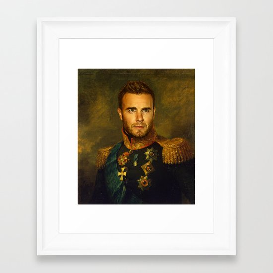 Gary Barlow - replaceface Framed Art Print