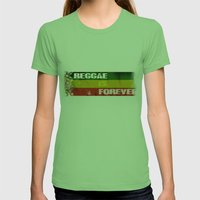 Reggae Is Forever II Womens Fitted Tee Grass SMALL