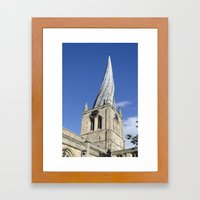 Twisted spire Framed Art Print