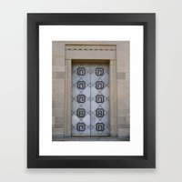The Door To Nowhere Framed Art Print