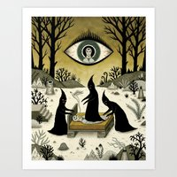 Three Shadow People Terr… Art Print
