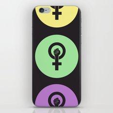 Feminist Power Fist, Tri-Colour iPhone & iPod Skin