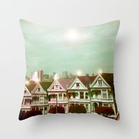 Painted Ladies - Remix Throw Pillow