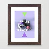 Nature vs Geometry Framed Art Print