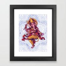 Ganesha (Color Variation 1) Framed Art Print