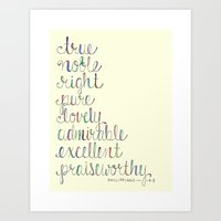 Philippians 4:8 Art Print