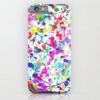 Paint Splatter 1 - White iPhone 6 Slim Case