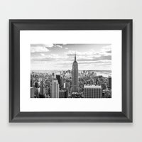 New York Skyline Framed Art Print