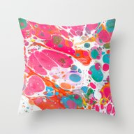 Abstract Painting ; Pebb… Throw Pillow