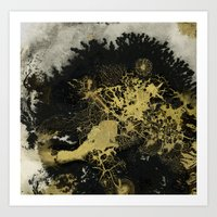 Black and gold Art Print