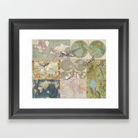 Flight Patterns Framed Art Print