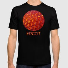 Geometric Epcot Mens Fitted Tee SMALL Black
