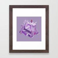 Den of the Headless Lion in Purple and Lavender Framed Art Print
