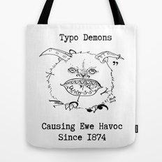 Typo Demons Tote Bag