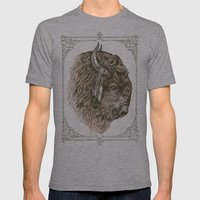 Buffalo Portrait Mens Fitted Tee Athletic Grey SMALL