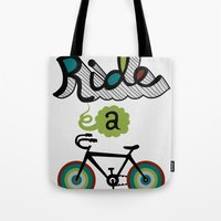 Ride a Bike 3  Tote Bag