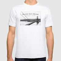 Golden Gate Bridge - San… Mens Fitted Tee Ash Grey SMALL