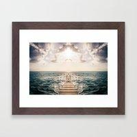 Kaleidoscape: Caye Caulker Framed Art Print