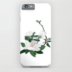 Magnolia Flowers Slim Case iPhone 6s