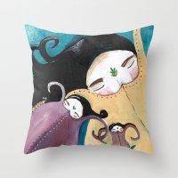 Sleeping Bhoomies Throw Pillow