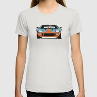 GT40 - Gulf Livery Womens Fitted Tee Silver SMALL
