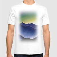 Mountain Landscape at Dusk Mens Fitted Tee White SMALL