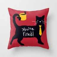 The Bossy Cat Throw Pillow
