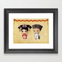 Chinese Chibis Framed Art Print
