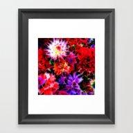 Glowing Flowers Framed Art Print