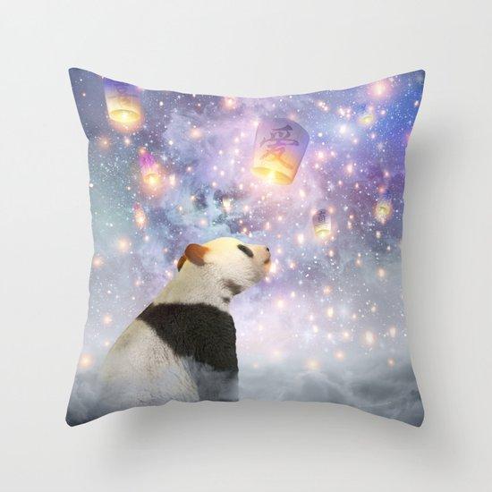 Let Your Dreams Take Flight • (Panda Dreams 2) Throw Pillow